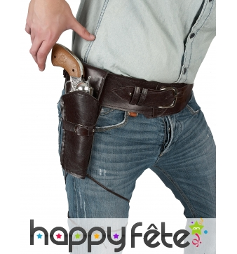 Holster marron simple pour adulte