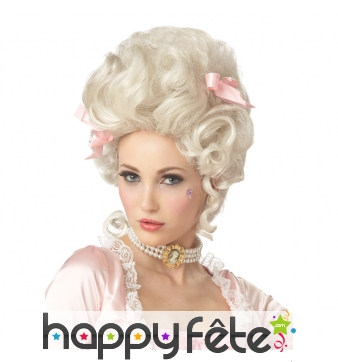 Haute perruque blonde de marie Antoinette