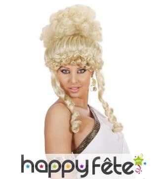 Haute perruque bouclée de déesse blonde