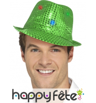 Justin à sequins verts lumineux