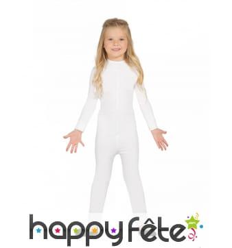 Justaucorps blanc pour fille