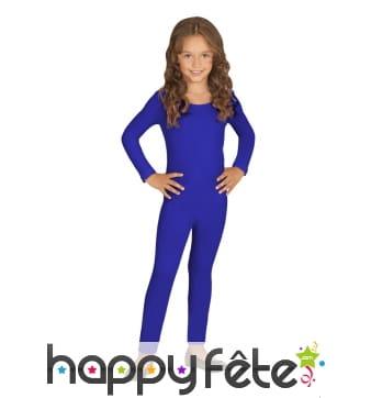 Justaucorps bleu uni pour enfant