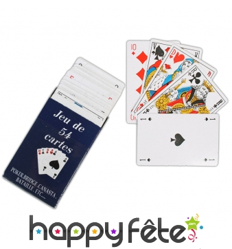 Jeu de 54 cartes, traditionnel