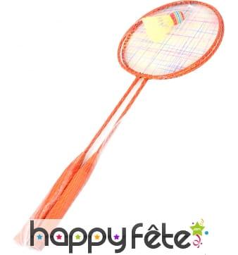 Jeu de badminton; 2 raquettes et volant