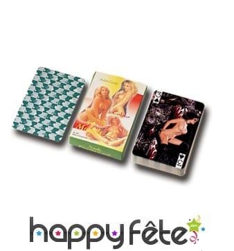Jeu de cartes femmes nues