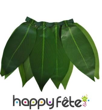 Jupe de feuilles vertes type bananier
