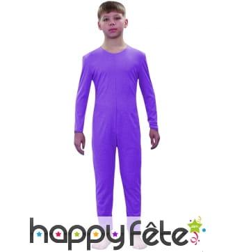 Justaucorps enfant violet clair