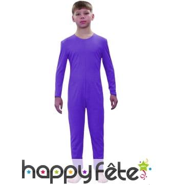 Justaucorps enfant violet fonce
