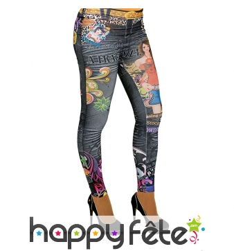 Jeggings kitch et coloré