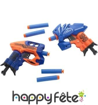 Jouet révolver avec projectiles en mousse