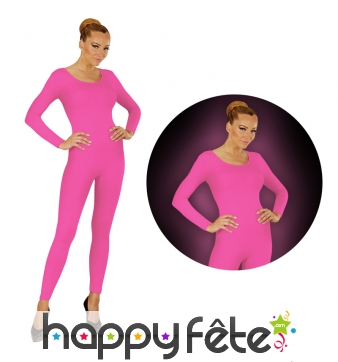 Justaucorps rose fluo pour femme