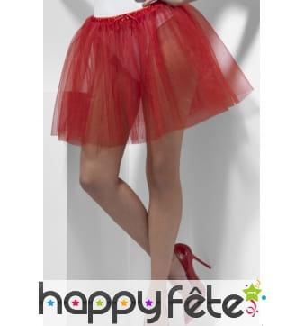 Jupon rouge transparent de 34cm