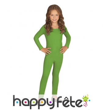 Justaucorps vert uni pour enfant