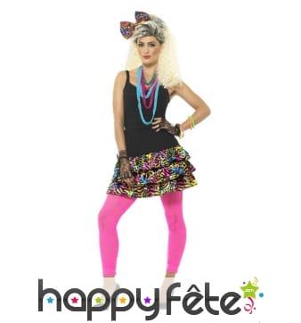 Kit années 80 multicolore pour femme