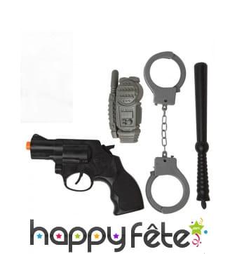 Kit accessoires de policier
