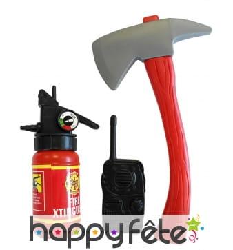Kit accessoires de pompier pour enfant