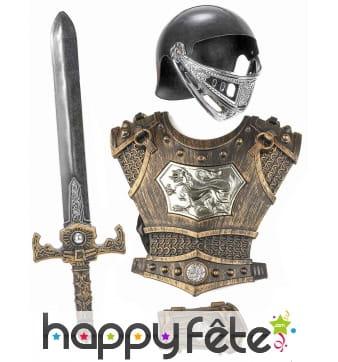 Kit armure de chevalier pour enfant