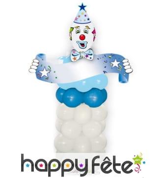 Kit ballons pour créer un grand clown bleu