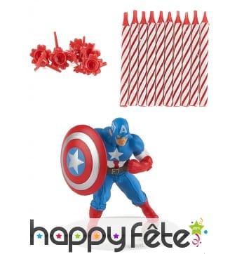 Kit Captain America de décoration de gâteau