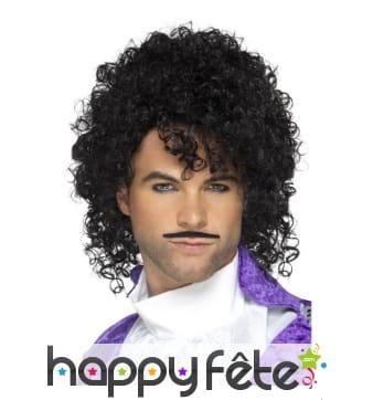 Kit chanteur des années 80, perruque et moustache