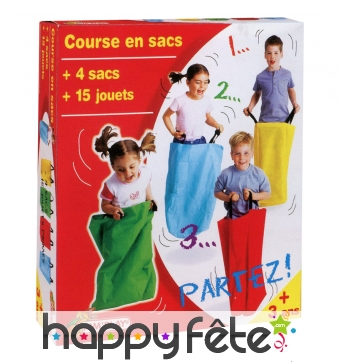 Kit course en sacs avec jouets