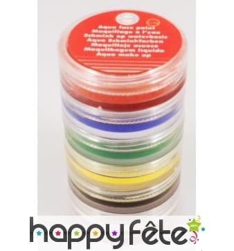 Kit de 6 couleurs de maquillage à l'eau