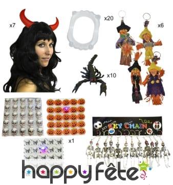 Kit de 80 cadeaux Halloween