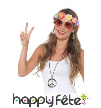 Kit d'accessoires hippie pour adulte