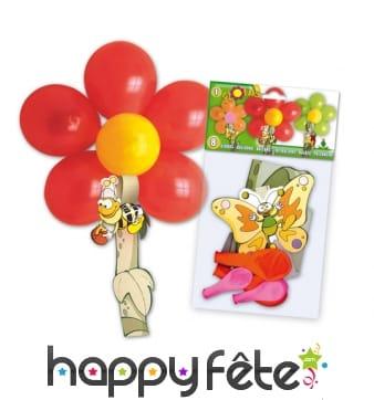 Kit de ballons pour créer une forme de fleur