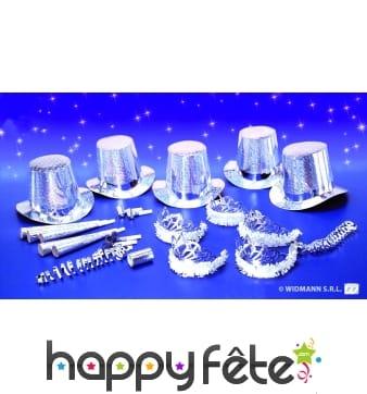 Kit de cotillons hologramme diamant