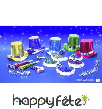 Kit de cotillons hologramme multicolore