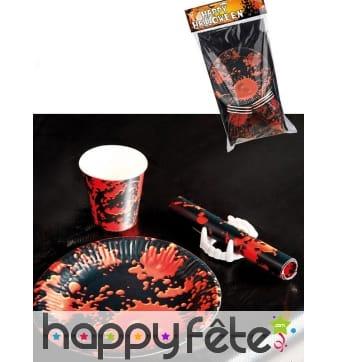 Kit de déco de table ensanglanté pour halloween