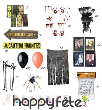 Kit de décoration Halloween pour adulte