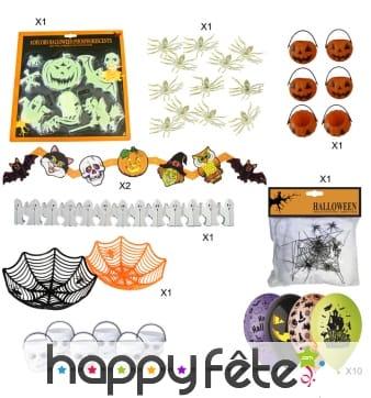 Kit de décoration halloween pour fête d'enfant