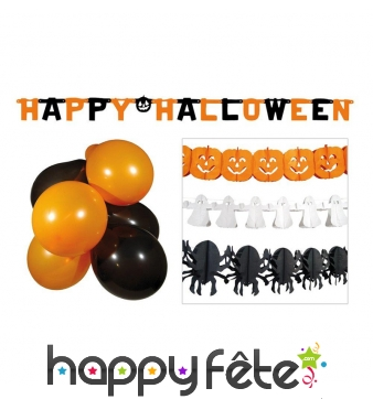 Kit De Decoration Halloween Pour Vitrine