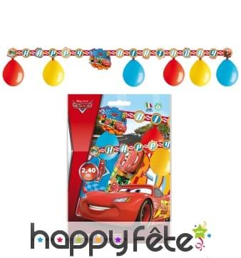 Kit de décorations Cars d'anniversaire