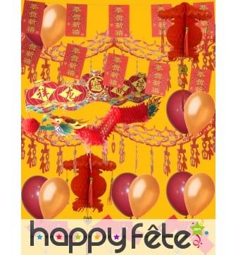 Kit de décorations pour Nouvel an chinois