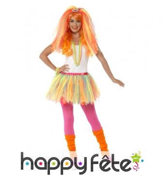 Kit de déguisement princesse néon multicolore
