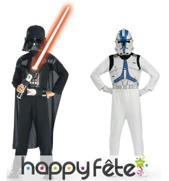 Kit de déguisements Vador et trooper pour enfant