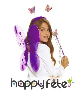 Kit de fée papillon violette