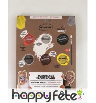 Kit de maquillage à l'eau thème animal, 6 couleurs