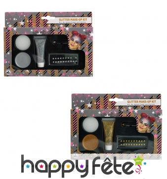 Kit de maquillage à paillettes
