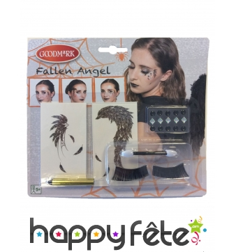 Kit de maquillage ange noir pour femme