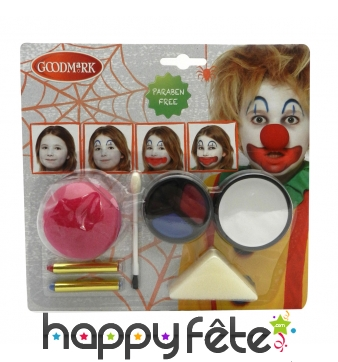 Kit de maquillage clown pour enfant