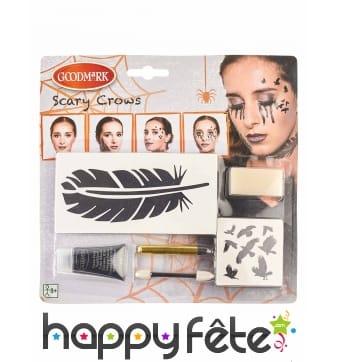 Kit de maquillage corbeau pour femme