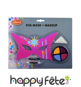 Kit de maquillage de héroine avec masque, fille
