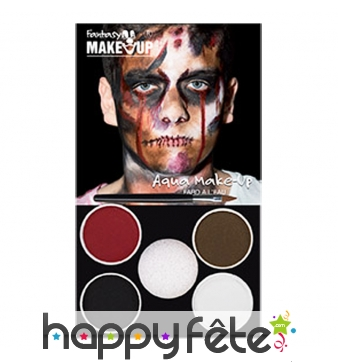 Kit de maquillage de zombie à l'eau