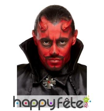 Kit de maquillage diable noir et rouge pour adulte