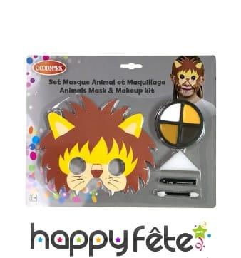 Kit de maquillage lion avec masque pour enfant