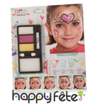 Kit de maquillage petite princesse pour enfant